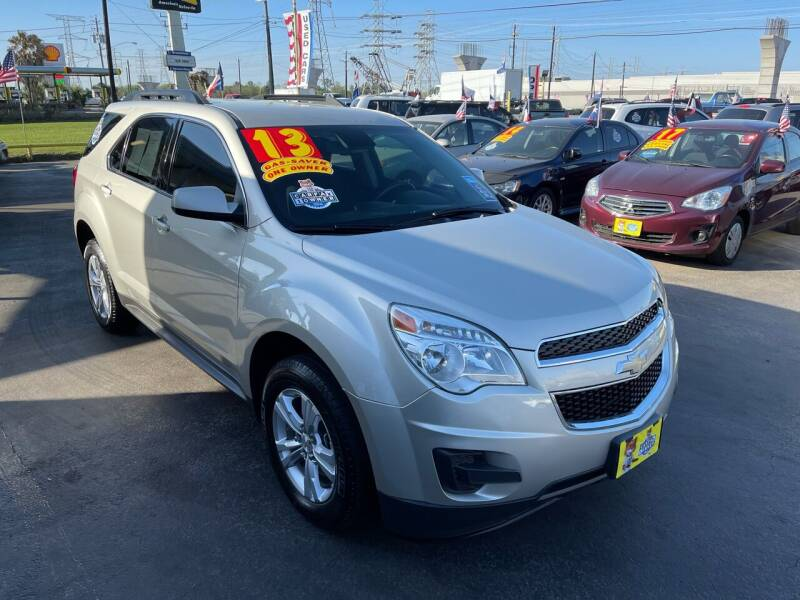 2013 Chevrolet Equinox for sale at Texas 1 Auto Finance in Kemah TX