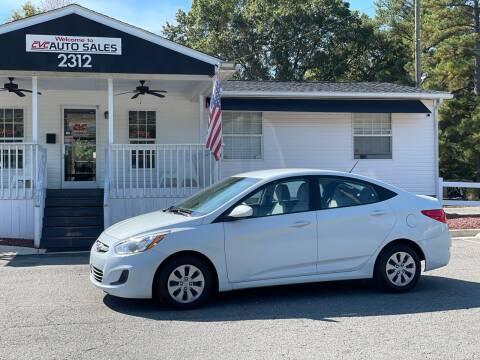 2017 Hyundai Accent for sale at CVC AUTO SALES in Durham NC