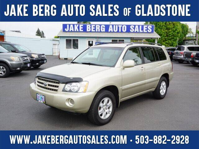 2002 Toyota Highlander for sale at Jake Berg Auto Sales in Gladstone OR