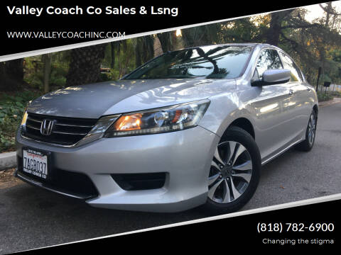 2013 Honda Accord for sale at Valley Coach Co Sales & Lsng in Van Nuys CA