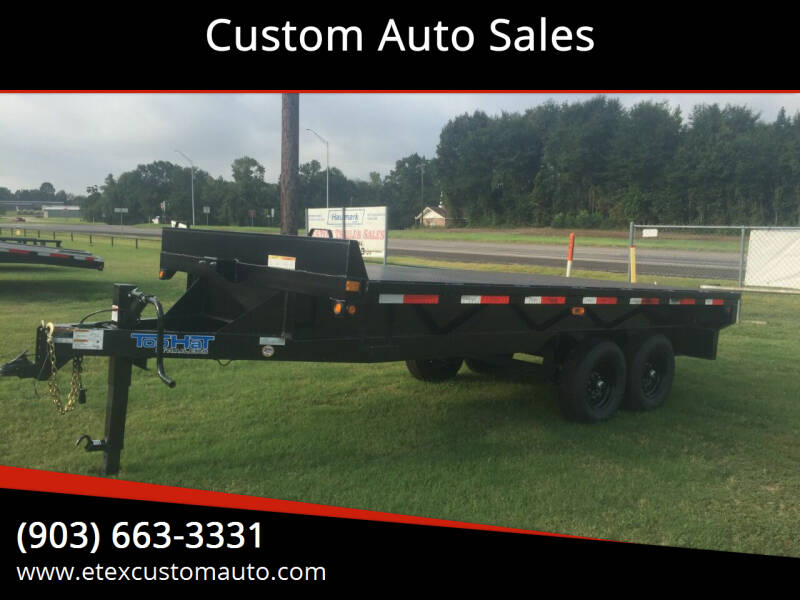 2020 Top Hat 16x102 Platform Trailer for sale at Custom Auto Sales - TRAILERS in Longview TX