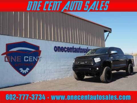 2017 Toyota Tundra for sale at One Cent Auto Sales in Glendale AZ