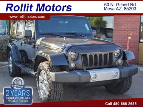 2014 Jeep Wrangler Unlimited for sale at Rollit Motors in Mesa AZ