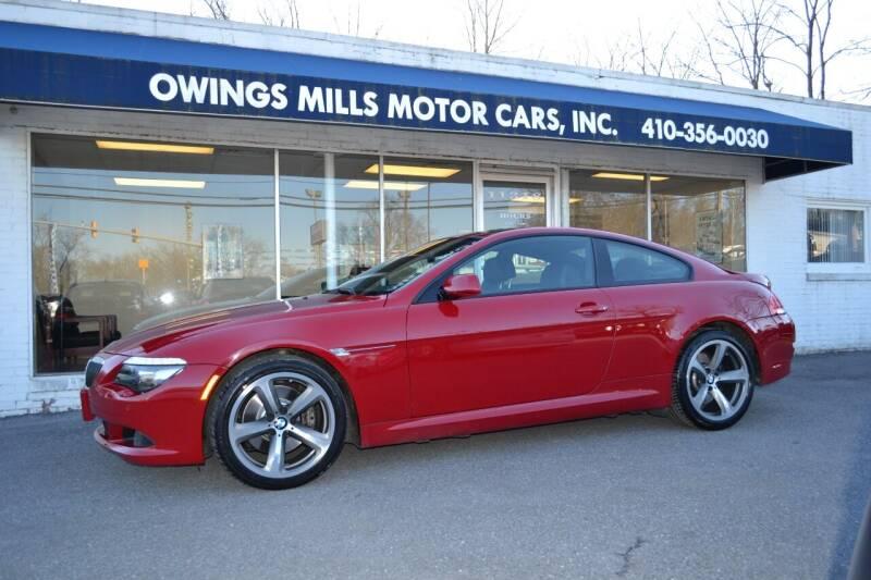 2009 BMW 6 Series for sale at Owings Mills Motor Cars in Owings Mills MD
