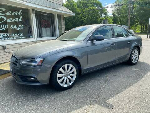 2013 Audi A4 for sale at Real Deal Auto Sales in Auburn ME
