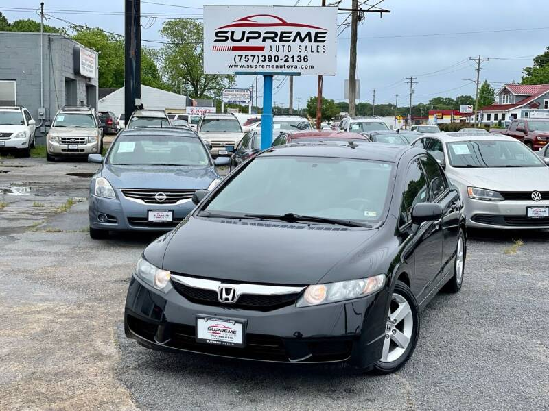 2010 Honda Civic for sale at Supreme Auto Sales in Chesapeake VA