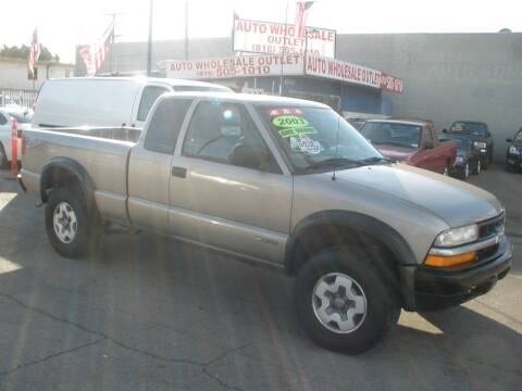 2003 Chevrolet S-10 for sale at AUTO WHOLESALE OUTLET in North Hollywood CA