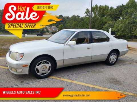 2000 Lexus LS 400 for sale at WIGGLES AUTO SALES INC in Mableton GA
