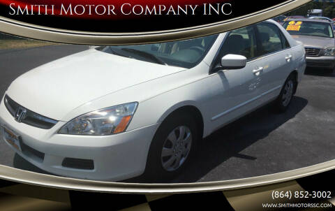 2007 Honda Accord for sale at Smith Motor Company INC in Mc Cormick SC