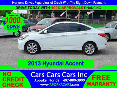 2013 Hyundai Accent for sale at CARS CARS CARS INC in Apopka FL