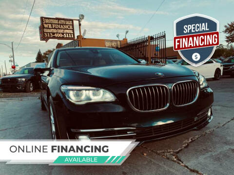 2013 BMW 7 Series for sale at 3 Brothers Auto Sales Inc in Detroit MI