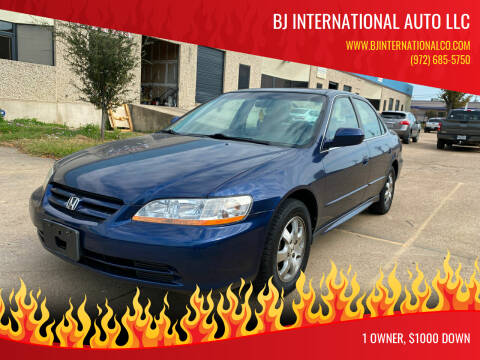 2001 Honda Accord for sale at BJ International Auto LLC in Dallas TX