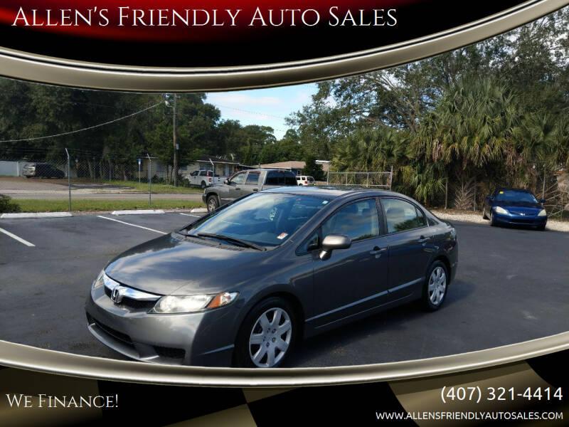 2009 Honda Civic for sale at Allen's Friendly Auto Sales in Sanford FL