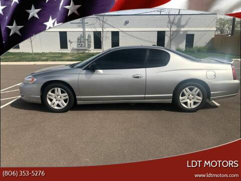 2007 Chevrolet Monte Carlo for sale at LDT MOTORS in Amarillo TX