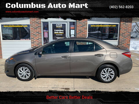 2017 Toyota Corolla for sale at Columbus Auto Mart in Columbus NE