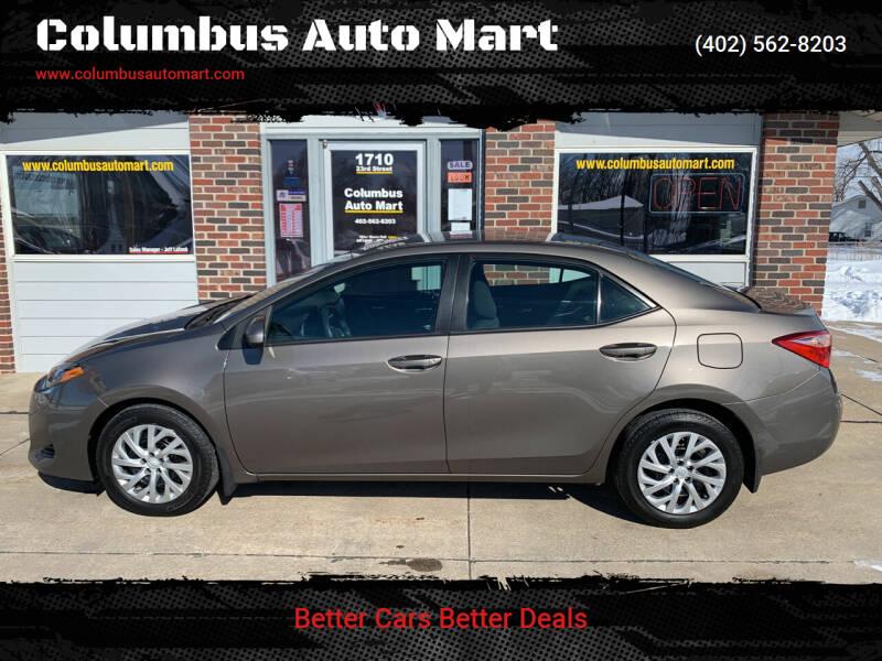 2017 Toyota Corolla for sale at Columbus Auto Mart in Columbus NE