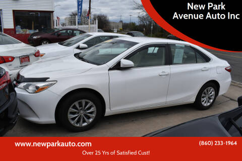 2015 Toyota Camry for sale at New Park Avenue Auto Inc in Hartford CT