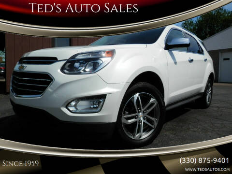 2017 Chevrolet Equinox for sale at Ted's Auto Sales in Louisville OH