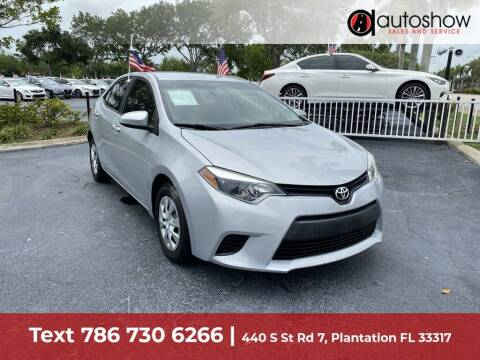 2015 Toyota Corolla for sale at AUTOSHOW SALES & SERVICE in Plantation FL