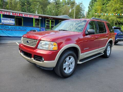 2005 Ford Explorer for sale at HIGHLAND AUTO in Renton WA