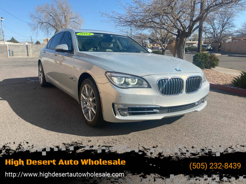 2014 BMW 7 Series for sale at High Desert Auto Wholesale in Albuquerque NM