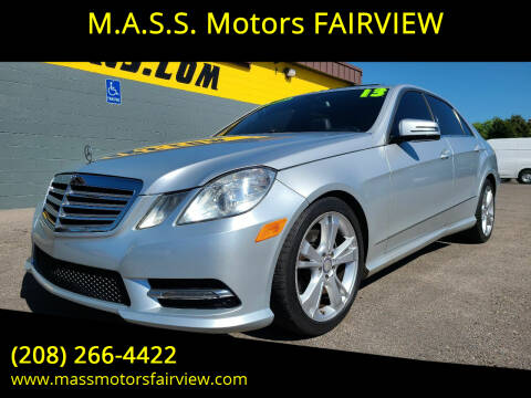 2013 Mercedes-Benz E-Class for sale at M.A.S.S. Motors - Fairview in Boise ID