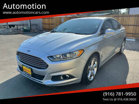 2015 Ford Fusion for sale at Automotion in Roseville CA