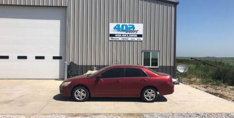 2007 Honda Accord for sale at 402 Autos in Lindsay NE