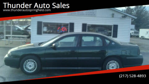 2002 Chevrolet Impala for sale at Thunder Auto Sales in Springfield IL