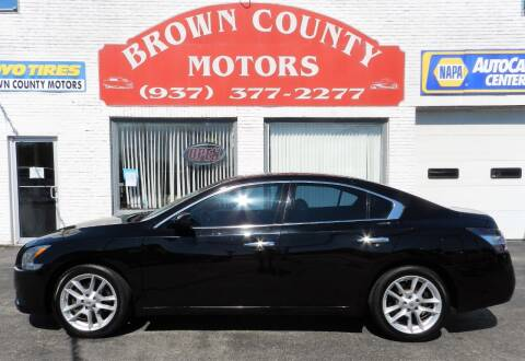 2014 Nissan Maxima for sale at Brown County Motors in Russellville OH
