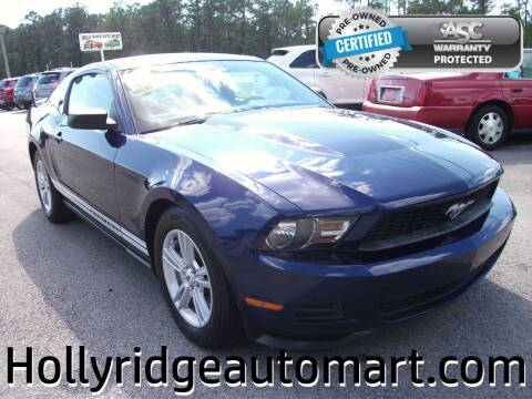 2012 Ford Mustang for sale at Holly Ridge Auto Mart in Holly Ridge NC