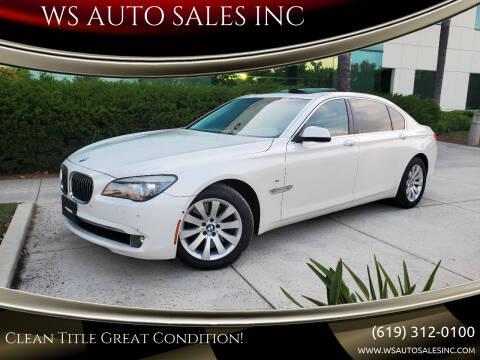 2011 BMW 7 Series for sale at WS AUTO SALES INC in El Cajon CA