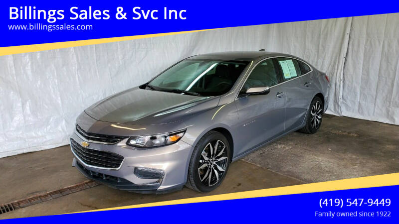 2017 Chevrolet Malibu for sale at Billings Sales & Svc Inc in Clyde OH