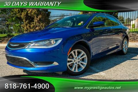 2015 Chrysler 200 for sale at Prestige Auto Sports Inc in North Hollywood CA