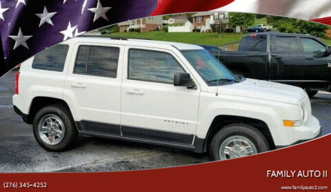 2016 Jeep Patriot for sale at FAMILY AUTO II in Pounding Mill VA