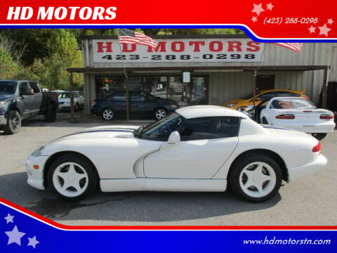 1996 Dodge Viper for sale at HD MOTORS in Kingsport TN