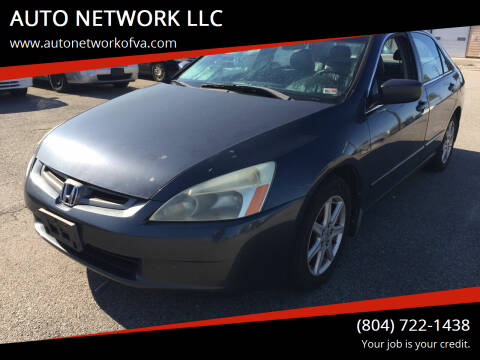 2003 Honda Accord for sale at AUTO NETWORK LLC in Petersburg VA