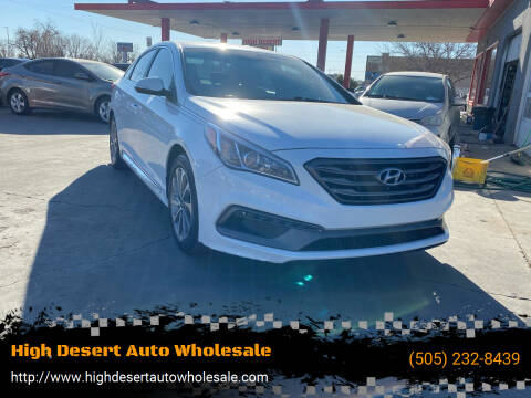 2017 Hyundai Sonata for sale at High Desert Auto Wholesale in Albuquerque NM