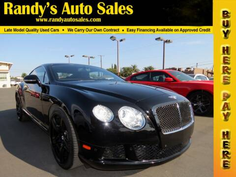 2013 Bentley Continental for sale at Randy's Auto Sales in Ontario CA