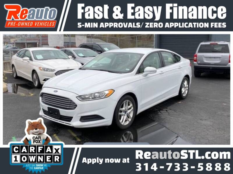 2014 Ford Fusion for sale at Reauto in Saint Louis MO