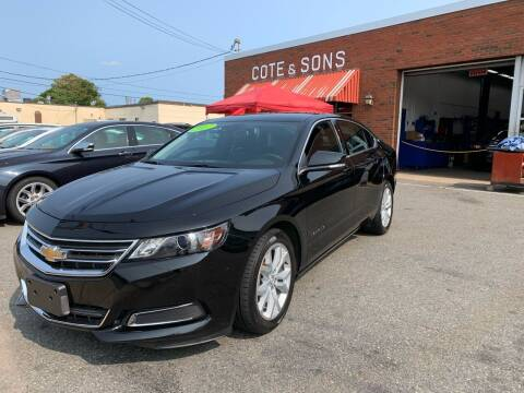 2017 Chevrolet Impala for sale at Cote & Sons Automotive Ctr in Lawrence MA