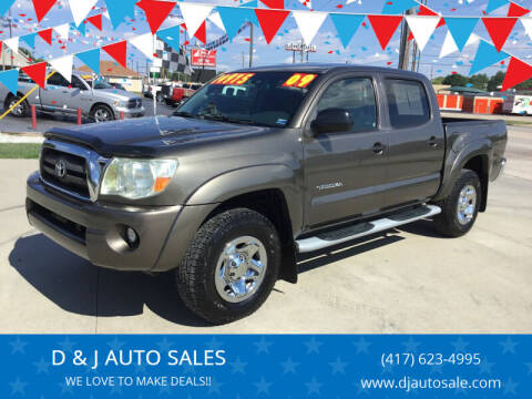 2009 Toyota Tacoma for sale at D & J AUTO SALES in Joplin MO