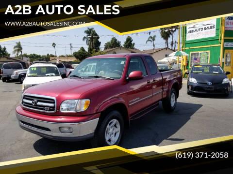 2001 Toyota Tundra for sale at A2B AUTO SALES in Chula Vista CA