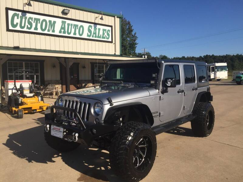 2016 Jeep Wrangler Unlimited for sale at Custom Auto Sales - AUTOS in Longview TX