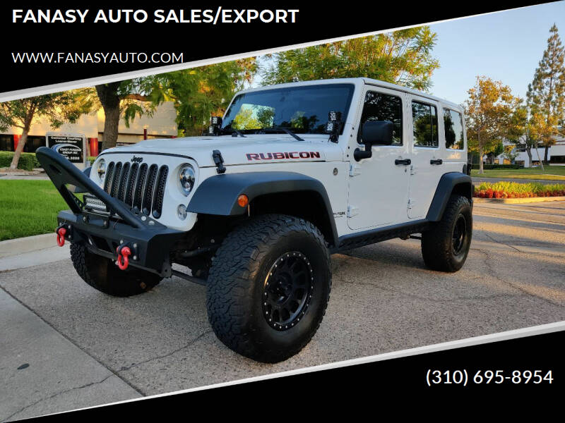 2018 Jeep Wrangler JK Unlimited for sale at FANASY AUTO SALES/EXPORT in Yorba Linda CA