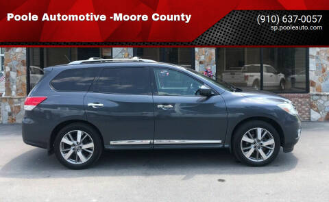 2013 Nissan Pathfinder for sale at Poole Automotive in Laurinburg NC