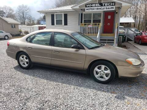 2002 Ford Taurus for sale at Wheel Tech Motor Vehicle Sales in Maylene AL