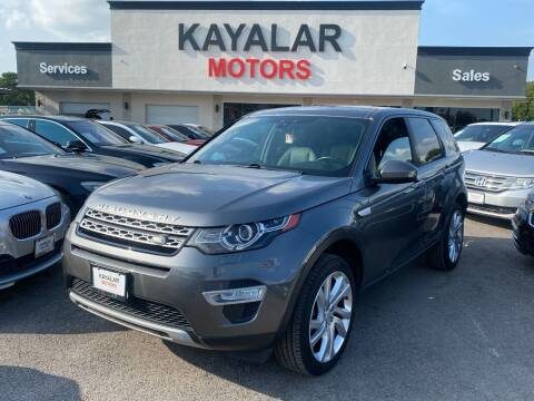 2016 Land Rover Discovery Sport for sale at KAYALAR MOTORS in Houston TX