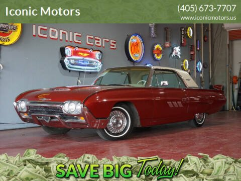1963 Ford Thunderbird for sale at Iconic Motors of Oklahoma City, LLC in Oklahoma City OK