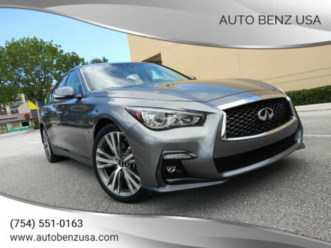 2018 Infiniti Q50 for sale at AUTO BENZ USA in Fort Lauderdale FL